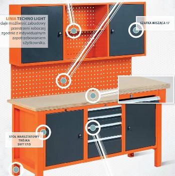 Przykładowa konfiguracja stołu linia techno light