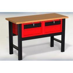 Stół warsztatowy N-3-03-01 - z 2 szafkami (2x2 szuflady)