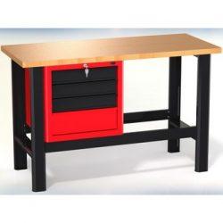 Stół warsztatowy N-3-04-01 - z szafką (4 szuflady)