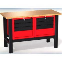 Stół warsztatowy N-3-05-01 - z 2 szafkami (2x4 szuflady)
