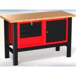 Stół warsztatowy N-3-06-01 - z 2 szafkami (4 szuflady + 1 drzwiczki)