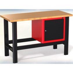 Stół warsztatowy N-3-06-01 - z 1 szafką (drzwiczki)