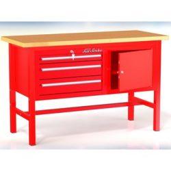 Stół warsztatowy P-3-04-01 - z 2 szafkami (3 szuflady +1 drzwiczki)