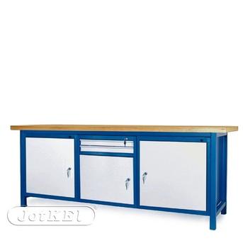 Stół warsztatowy 2-21-23 – Jotkel HSS 04 : 2 szafki S12 : 1 szafka S11