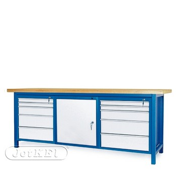 Stół warsztatowy 2-21-27 – Jotkel HSS 04 : 2 szafki S13 : 1 szafka S12