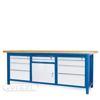 Stół warsztatowy 2-21-29 – Jotkel HSS 04 : 2 szafki S14 : 1 szafka S11