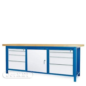 Stół warsztatowy 2-21-30 – Jotkel HSS 04 : 2 szafki S14 : 1 szafka S12