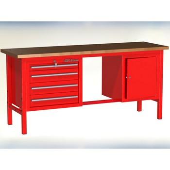 Stół warsztatowy P-3-15-01 z 2 szafkami (4szuflady+1drzwiczki)